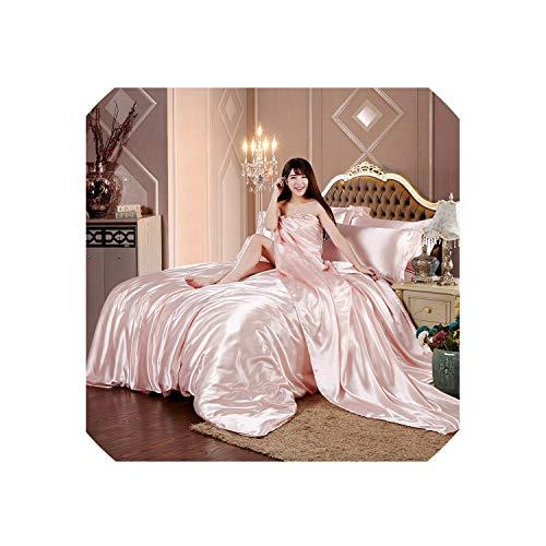 Duvet Cover ZSweet Bettwäsche-Set aus Reiner Satin, Heimtextilien, King-Size-Bett, Designer-Bettwäsche, Himmelblau, 3-teilig, beige, QueenSize3Pcs
