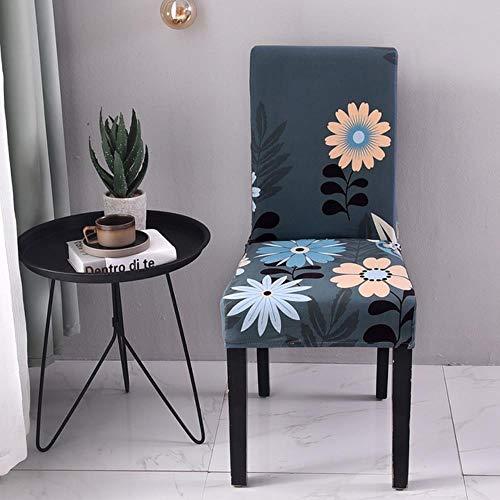 NA 1/2/4 / 6PCS Bedruckte Stuhlhülle Spandex Elastic Chair Covers Schonbezüge Universal für Esszimmer Hochzeitsbankett, 2, China
