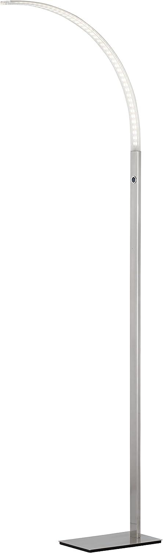 WOFI Stehleuchte, 1-flammig, Serie Luz, 1 x LED, 16.8 W, Breite 16.5 cm, Hhe 165 cm, Kelvin 3000, Lumen 1680, nickel matt 3682.01.64.0000