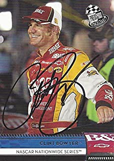 AUTOGRAPHED Clint Bowyer 2009 Press Pass Racing (#2 BB&T Car) RCR Nationwide Series Signed NASCAR Collectible Trading Card...