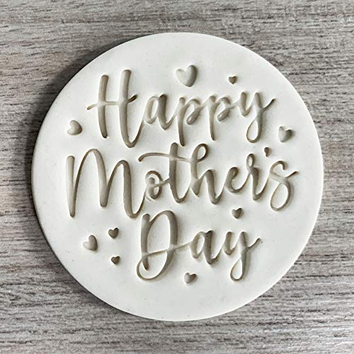 Happy Mothers Day Fondant Embosser or Cookie Stamp, Mother's day Embossing Stamp