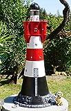 XXL Leuchtturm ROTER Sand Deluxe 140 cm hoch +Beleuchtung~Garten DEKO~Sylt~ Nordsee