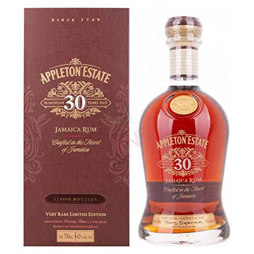 Appleton Estate 30 Years Old Jamaica Rum Very Rare Limited Edition 45% Vol. 0,7l in Giftbox