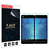 J&D Compatible for ZTE Axon M Screen Protector (4-Pack), Not Full Coverage, HD Clear Protective Film Shield Screen Protector for ZTE Axon M Crystal Clear Film