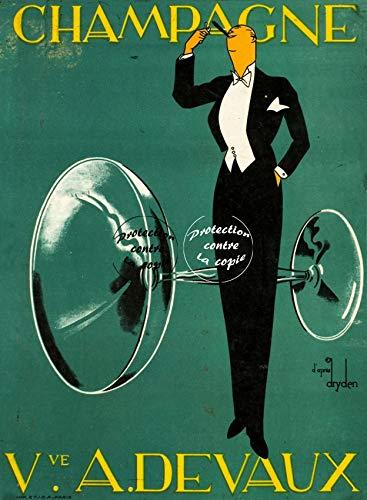 Herbé TM A. DevAUX Champagner Rfnmu- Poster / Kunstdruck, 50 x 70 cm (auf Papier 60 x 80 cm) d1 Poster Vintage/Antik/Retro