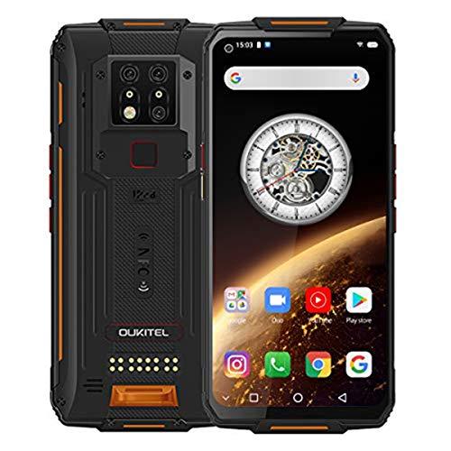 Telefonos Resistentes,OUKITEL WP7 (2021) 6.53'FHD+ 8MP IR Cámara de Visión Nocturna 128GB ROM 6GB RAM Helio P90 Moviles Libre Resistentes,8000 mAh Carga Rápida Dual SIM 4G Rugged Moviles NFC, Naranja