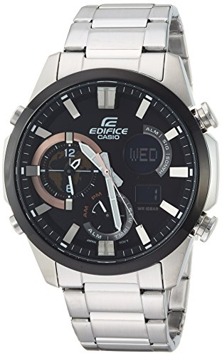 Casio Men's Edifice Quartz Watch with Stainless-Steel Strap, Silver, 11 (Model: ERA-500DB-1ACR)
