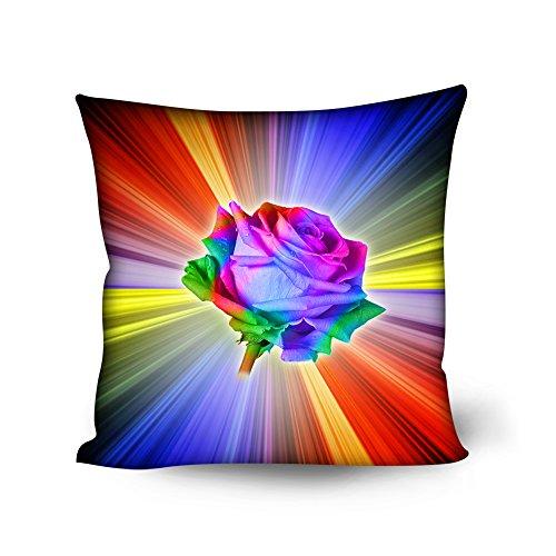 Coloranimal Stilvolle 3D Floral Printing Überwurf Kissenbezug Set von 4Kissenbezüge, Floral Pattern-5, 18inchx18inch