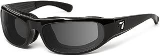 7eye Whirlwind sharpview Marco de anteojos de Sol, Negro Brillante, Gris Polarizado Lente, pequeño/Grande
