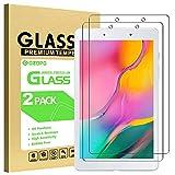 GOZOPO [2-Pack] Protection d'écran pour Samsung Galaxy Tab A 8.0 2019 (uniquement Wi-Fi version SM-T290) - Verre Trempé Film de Protection Tab A 8.0 SM-T290 (Wi-Fi)
