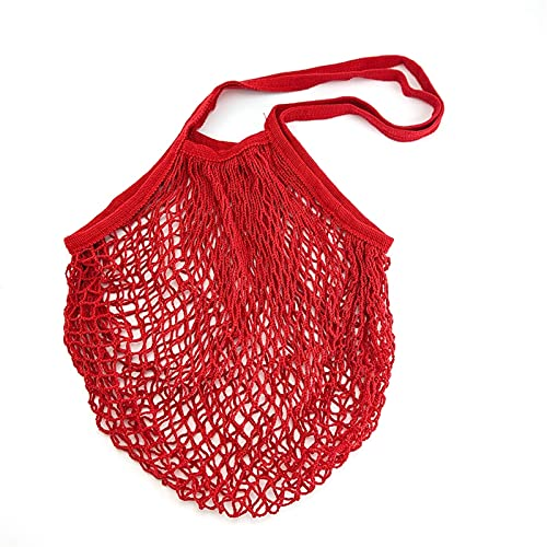 Dostawy do przechowywania domów Nowa Mesh Torba na Zakupy Wielokrotnego użytku String Owocowy Torba Totes Kobiety Zakupy Mesh Netal Woven Torba Sklep Grocery Tote Torba łatwy do noszenia (Color : F)