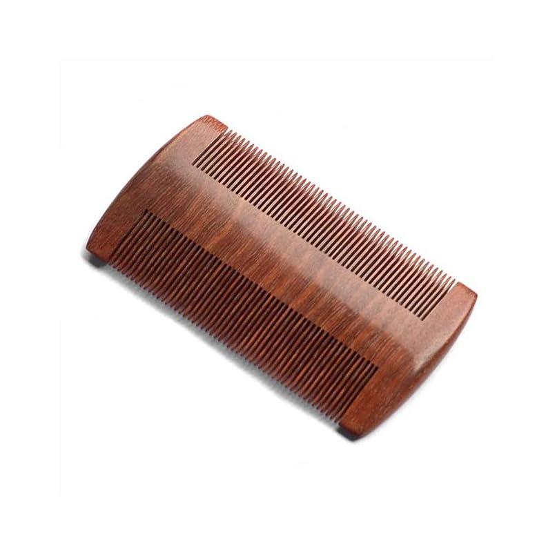 有効な新年に慣れZYDP 細かいコンパクトな歯赤白檀の髪の櫛手作りの櫛帯電防止髪の櫛