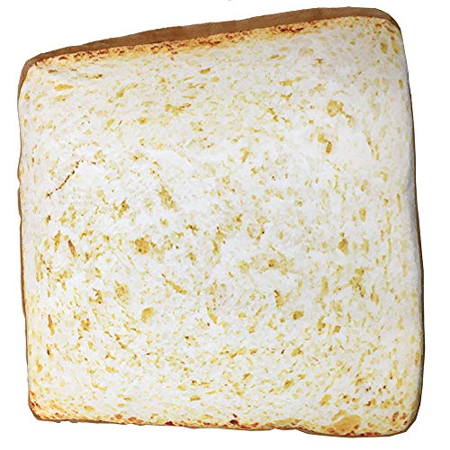 Toast Bread Slice Realistic Soft Velvet Foam Pillow Seat Cushion