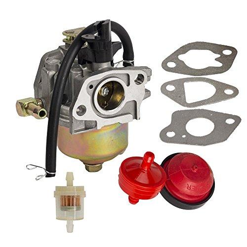 OxoxO Vergaser mit Primerbirne, 3 Dichtungen und 2 Kraftstofffilter und Kraftstoffleitung für HUAYI 170S 170SA 165S 165SA Schneefräse
