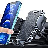 [Military-Grade] VICSEED Car Phone Holder Mount, [Upgrade Won't Break & Fall ] Air Vent Cell Phone Holder for Car Hands Free Easy Clamp Car Vent Phone Mount Fit for iPhone 13 Pro Max Mini All Phones