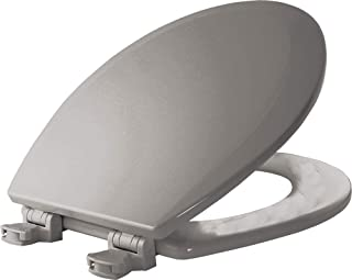 BEMIS 500EC 162 Toilet Seat with Easy Clean & Change Hinges, ROUND, Durable Enameled..