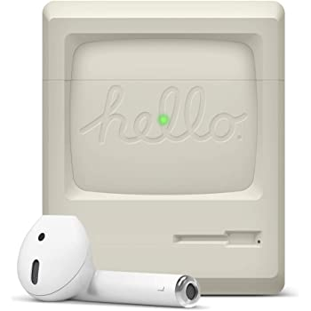 Classic Game Player Design Case with Keychain for AirPods 2/&1 elago AW5 AirPods Case Cover Compatible with Apple Airpods Case US Patent Registered Light Grey