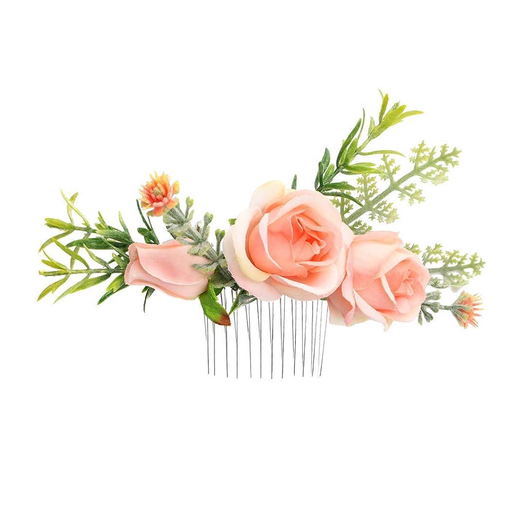 動ディプロマ下着Lurrose 結婚式の花の髪の櫛ブライダルスライドかぶとの花の髪の櫛の女性のためのアクセサリー女性