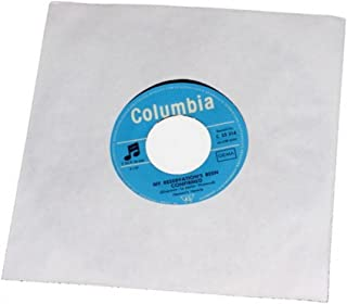 """CUIDATUMUSICA 100 Fundas Interiores de Papel Discos de Vinilo Singles 7"""" (Los Discos Pequeños) / Ref.2514 - Marca Cuida Tu..."""