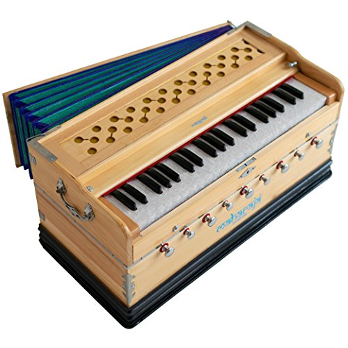 Harmonium, Maharaja Musicals Harmonium No. 5400n- 9 Stop - 3½ Octave - With Coupler, Book & Bag - Tuned to A440 (PDI-ABG)