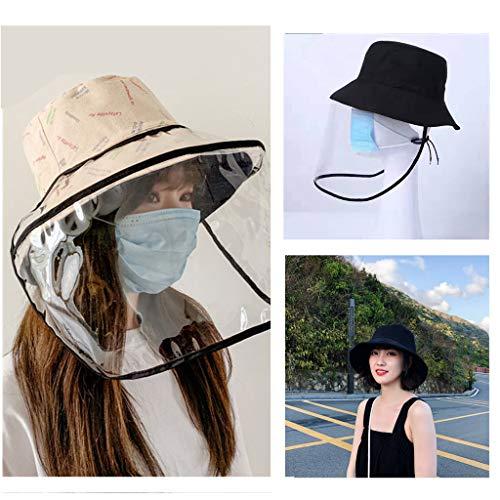 máscara Máscara protectora-Máscara de seguridad extraíble Sombrero anti-salpicaduras de agua Salpicadura Aislamiento Sombrero a prueba de contaminación Máscara multiusos Transparente ?negro?