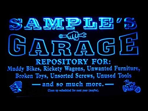 ADVPRO Name Personalized Custom Garage Basement Den Repair Neon Sign Blue 16x12 inches st4s43-pp-tm-b