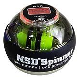 NSD Spinner(エヌエスディスピナー) オートスタート機能&デジタルカウンター搭載 ブラック PB-688AC 日本正規代理店商品【1年保証】 パワースピナーボール 握力トレーニング器具 ハンドボール ダンベル 腕の筋トレ 手首鍛える