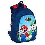 Toy Bags- Super Mario y Luichi Juguetes, Color Azul y Rojo, Grande (T433-830)