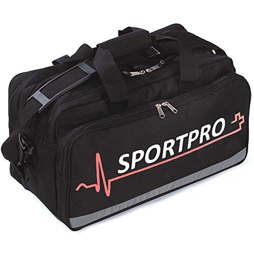 SportPro Erste-Hilfe-Tasche für Sport, groß, leer, Schwarz