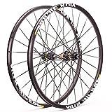 zyy Bicicleta Carretera Ruedas 700C Wheelset 21mm Llantas Aluminio Eje Pasante Freno de Disco 8/9/10/11 Velocidad (Color : Center Lock)