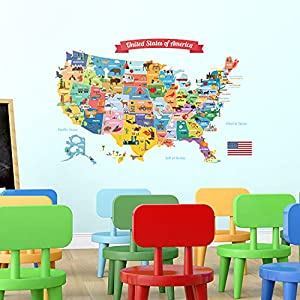 crib bedding and baby bedding decowall dl-1906 usa map kids wall stickers wall decals peel and stick removable wall stickers for kids nursery bedroom living room décor