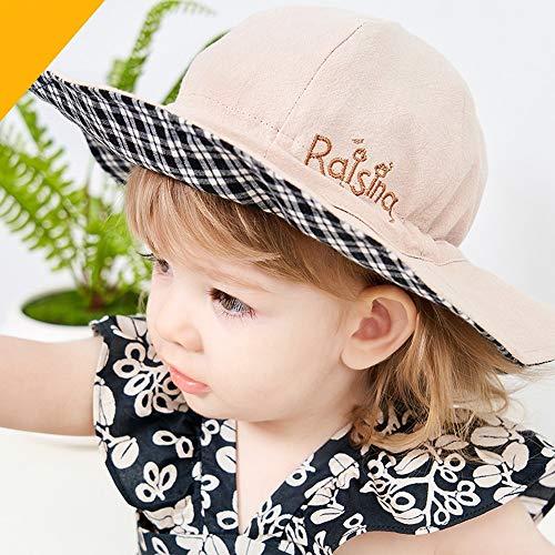 Oupai Couverture de Visage Anti-buée Enfants Coton Chapeau réversible Chapeau de Soleil Pliable Plage Cap avec réglable Jugulaire, Aged 1-6 for Les garçons et Les Filles