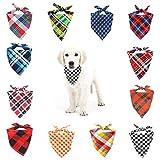 You&Lemon Bandana triangular para perro, pañuelo para perro, pañuelo para el cuello, bandana para perros, gatos y otras mascotas, lavable, 12 unidades
