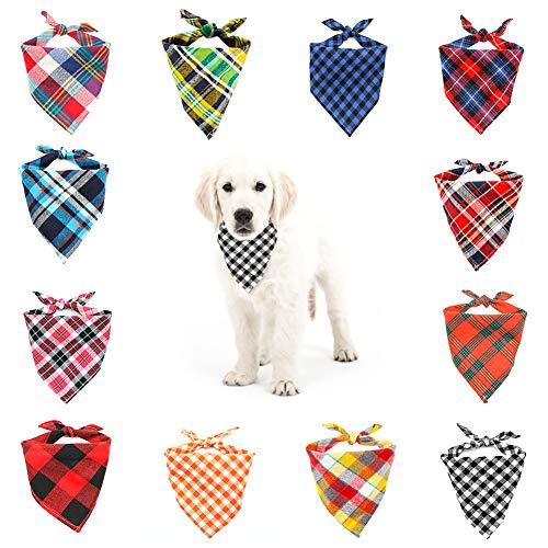 You&Lemon Hund Bandana Dreieck Hundehalstuch Stilvolle Halstuch für Hunde, Katzen und Andere Haustiere waschbar 12 Stück