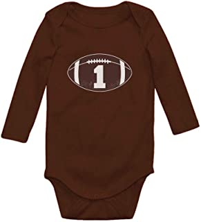 Tstars Gift for 1 Year Old Boy Football Baby Boy 1st Birthday Baby Long Sleeve Bodysuit