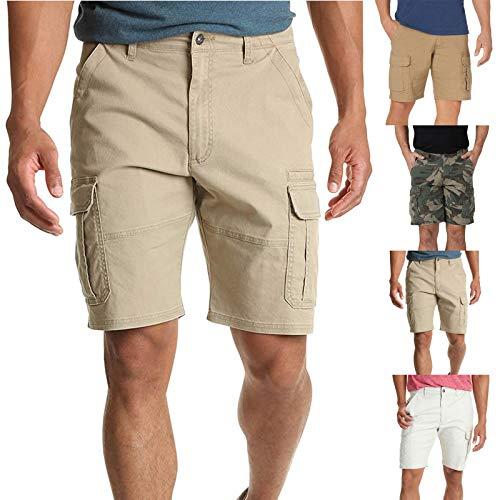2021 Nuevo Pantalones cortos Hombre Verano Casual Cómodo Moda Deporte Running Pants Jogging Color sólido Cortos Pantalon Fitness Gym Elástico Suelto Original Ropa de hombre Pantalones de playa shorts
