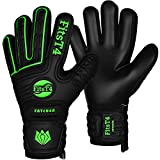 FitsT4 Goalie Goalkeeper Gloves with Fingersaves & Super Grip Palms Soccer Goalkeeper Gloves for Youth, Adult Green 8
