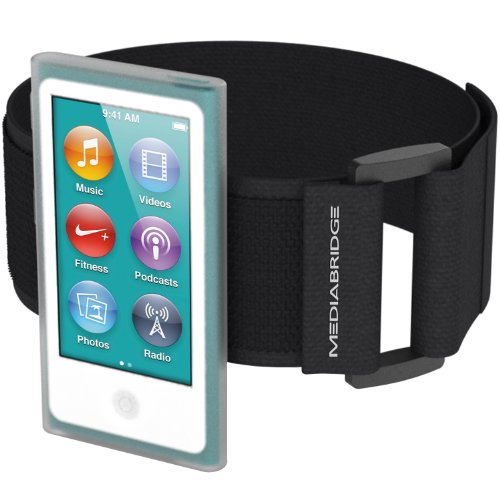 Mediabridge Armband for iPod Nano - 7th Generation / 8th Generation (Clear) - Model AB1 (Part# AB1-IPN7-CLEAR)