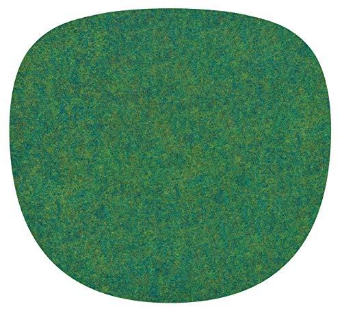 Feltd. Eco Filz Auflage 4mm Simple - geeignet für Vitra Eames Sidechair // - 30 Farben inkl. Antirutschunterlage (moosgrün)