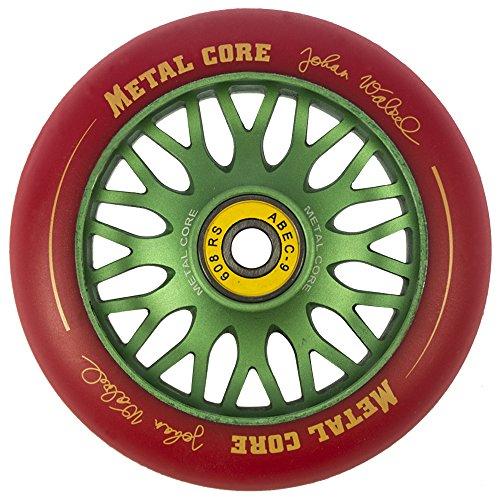 Metal Core Johan Ruedas Scooter, Rojo/Verde, Talla Única