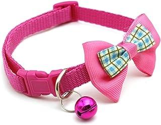 WPANgmz Animal Perro Collar Leash 1 Unid Color Caramelo AjustablePajarita Campana Bowknot Venta Collar Corbata Cachorro Gatito Perro Gato, Rh2
