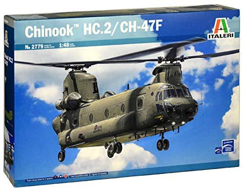 Italeri 510002779 510002779-1 Chinook HC.2 CH-47F, Modellbau, Bausatz, Standmodellbau, Maßstab 1:48