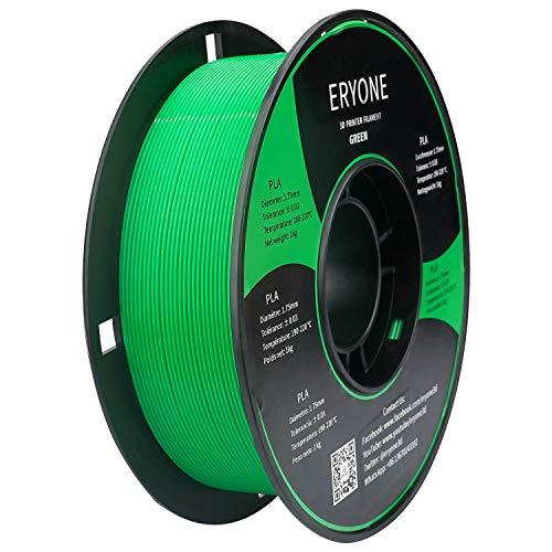 PLA Filament 1.75mm, ERYONE Filament PLA 1.75mm, 3D Printing Filament PLA for 3D printer, 1kg 1 Spool, Green
