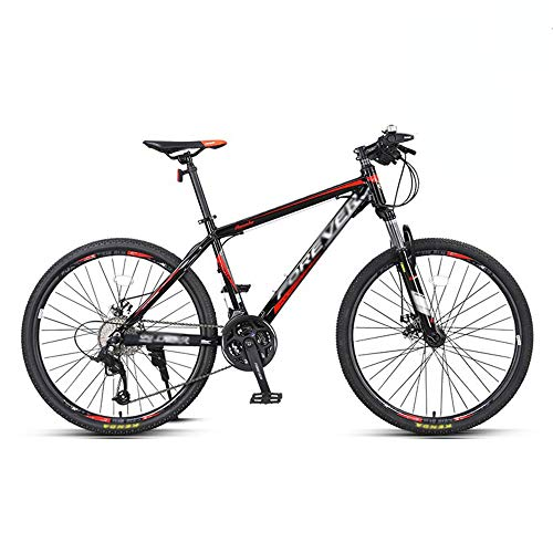 Bicicleta, Bicicleta de montaña de 27 velocidades, Bicicleta de choque todoterreno, Con marco de acero con alto contenido de carbono, Para adultos y adolescentes, fácil de instalar, Antideslizant