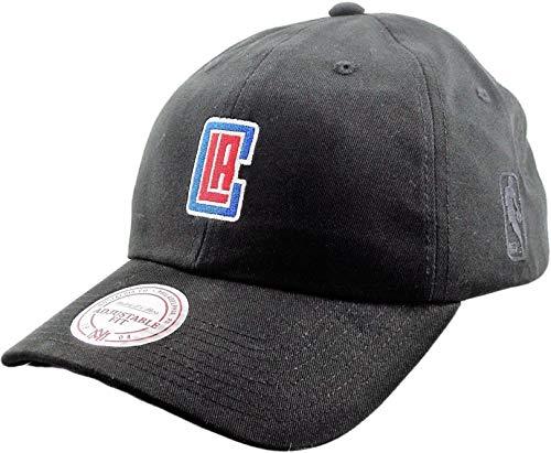 Mitchell & Ness - Cappellino con visiera curva NBA Curver Visor Dad, L.A. Clippers, nero.