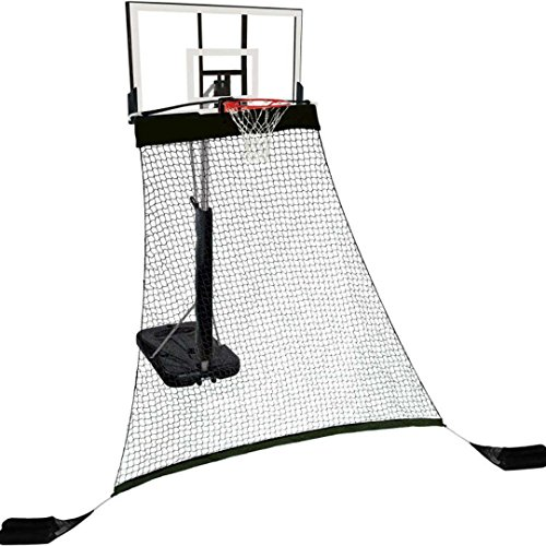 """Hathaway Rebounder Basketball Return System for Shooting Practice with Heavy Duty Polyester Net Black, 120"""" L x 60"""" W x 108"""" H"""
