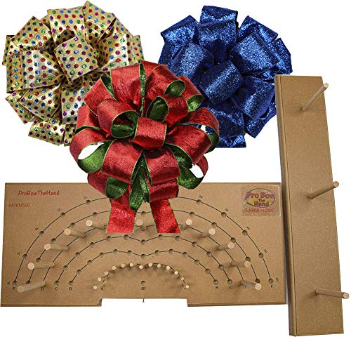 Pro Bow - The Hand Bow Maker (Large) - Make Custom 3 Ribbon Bows for Holiday Wreaths and More