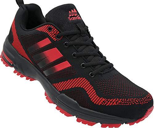 Herren Sportschuhe Sneaker Turnschuhe Schuhe Übergröße gr.47-49 Art.-Nr.1388 schwarz-rot (50)