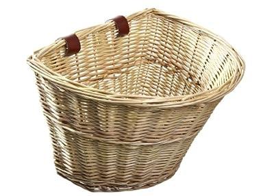 ProSource Wicker Front Handlebar Bike Basket Cargo