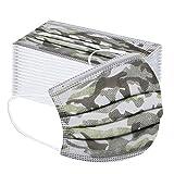 10/20/30/100 pezzi paradenti multifunzionale, maschera protettiva traspirante usa e getta, copertura a 3 strati, antipolvere, elastica, foulard per esterni per il viso (20 pezzi)